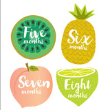 Little Fruits Monthly Milestone Stickers , milestone stickers - Lucy Darling, Wild Dill  - 1