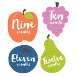 Little Fruits Monthly Milestone Stickers , milestone stickers - Lucy Darling, Wild Dill  - 3