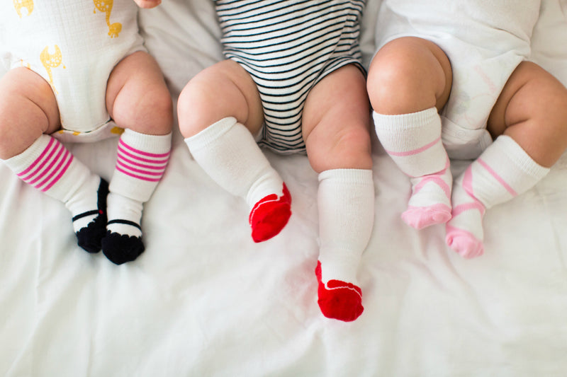 Stay Put Set of 3 Baby Girl Knee Socks,Cheski Sock Co  - Wild Dill