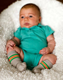 Mixed Classic Athletic Baby Socks - 3 Pack , Footwear - Cheski Sock Co, Wild Dill  - 4