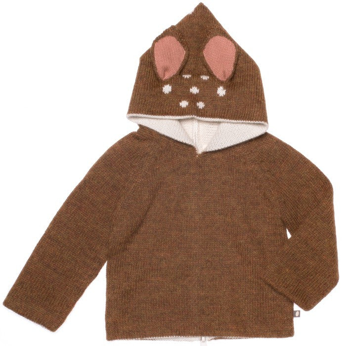 Fawn Alpaca Wool Sweater , Toddler Wear - Oeuf, Wild Dill  - 1