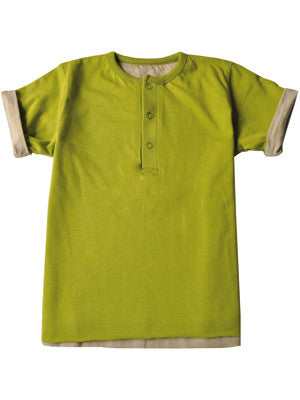 Ideo Organic Reversable Tee , Toddler Tee - Ideo, Wild Dill  - 3