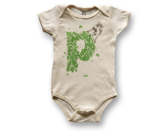 Biome5 organic Letter onesie P: Pig , Baby Wear - Biome5, Wild Dill