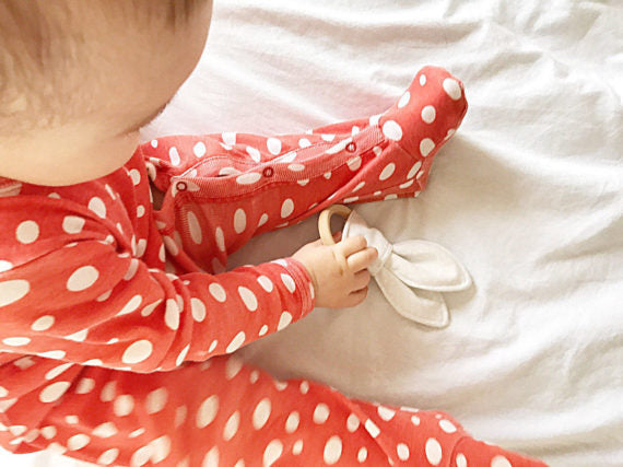 Bunny Ears Organic Teething Ring - Stars