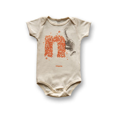 N: Numbat - Organic Animal Onesie , Baby Wear - Biome5, Wild Dill