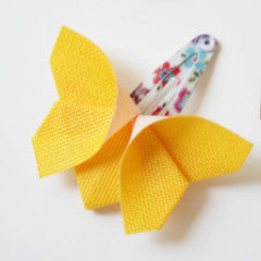 Yellow Origami Butterfly Hair Clips , Accessories - moran alhalel, Wild Dill  - 2