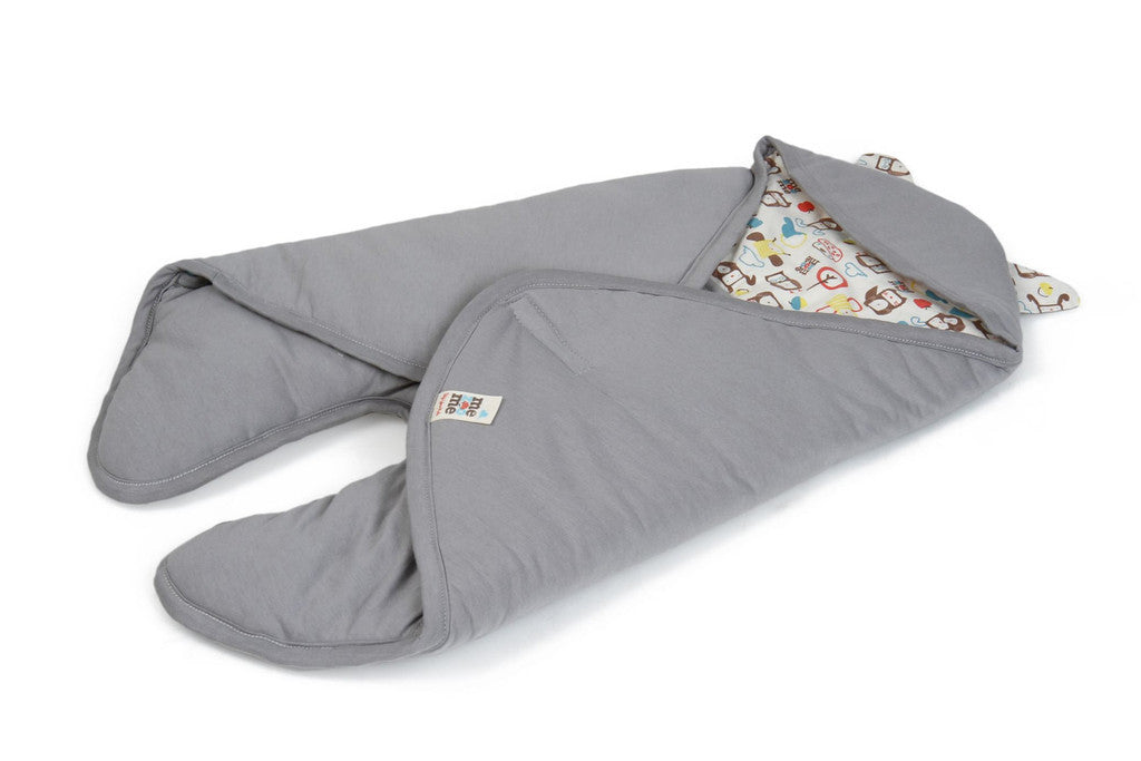 Mezoome Organic Baby Bunting Bag light grey, Sleep Sacks - Mezoome Designs, Wild Dill  - 4