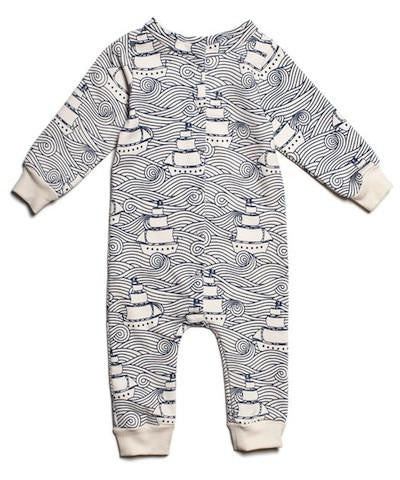 Winter Water Factory High Seas Jumpsuit - Organic French Terry , Baby Wear - Winter Water Factory, Wild Dill