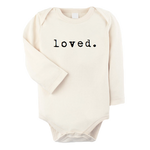 Loved - Organic Long sleeve Onepiece,Tenth and Pine  - Wild Dill