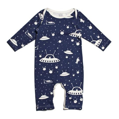 Midnight Blue Outer Space Romper , Baby Wear - Winter Water Factory, Wild Dill