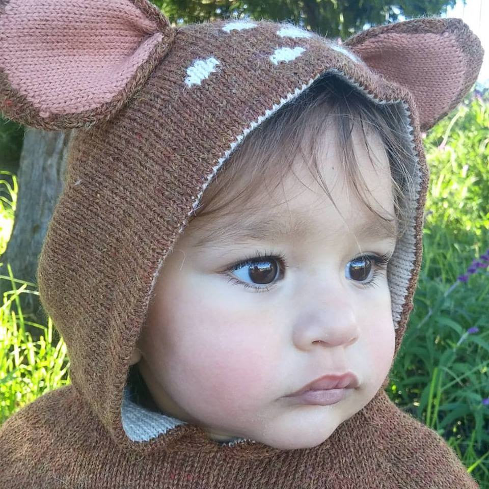 Fawn Alpaca Wool Sweater , Toddler Wear - Oeuf, Wild Dill  - 2