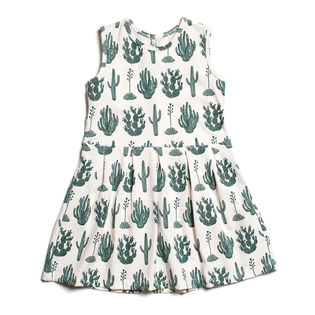 Green Cactus Tank Dress by Winter Water Factory,Winter Water Factory  - Wild Dill