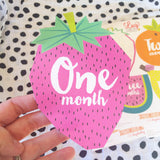 Little Fruits Monthly Milestone Stickers , milestone stickers - Lucy Darling, Wild Dill  - 4