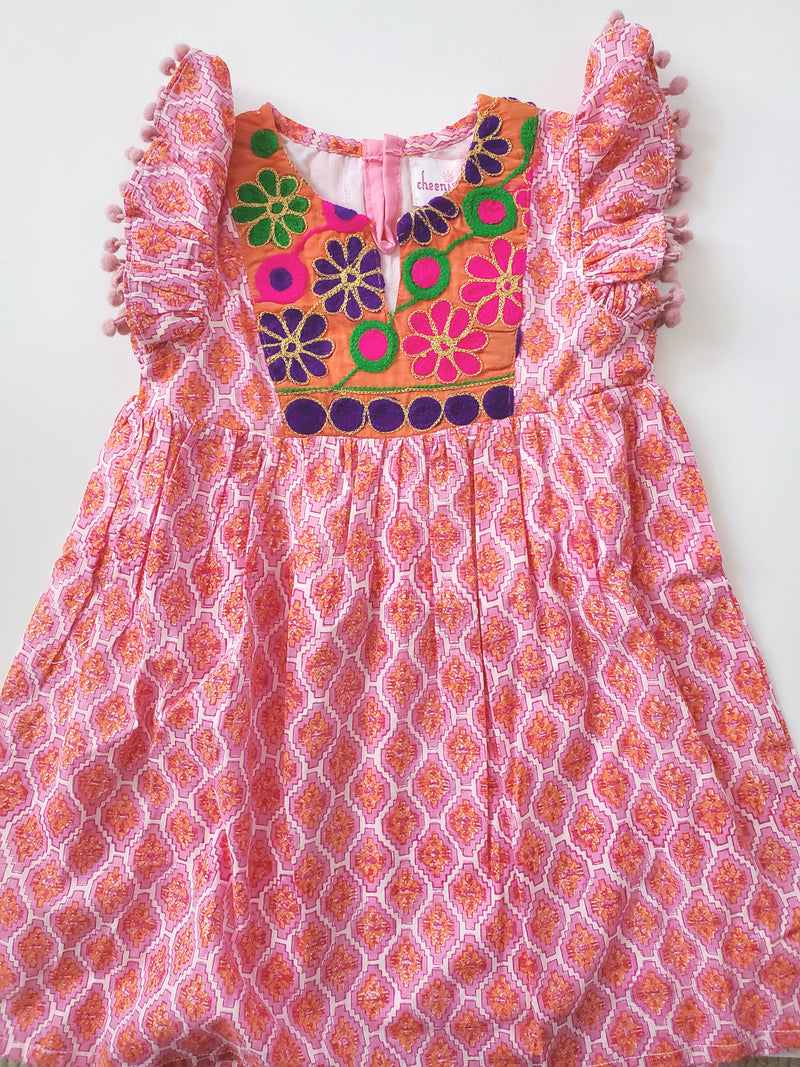 Cheeni Clothing - Layla Banjara Dress,Cheeni Girls  - Wild Dill