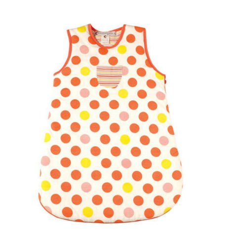 Ideo Coral Big Dots Organic Cotton Sleep Sack , Sleep Sacks - Ideo, Wild Dill