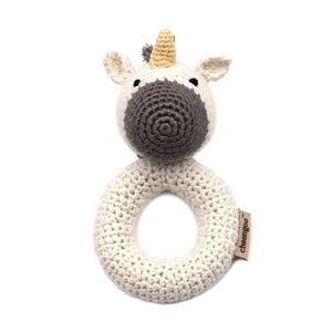 Unicorn Crochet Ring Rattle