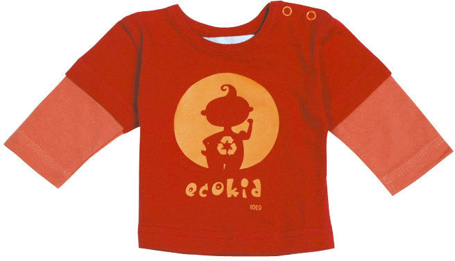 Ideo Eco-Kid organic long sleeve tee - Orange , Baby Wear - Ideo, Wild Dill  - 1