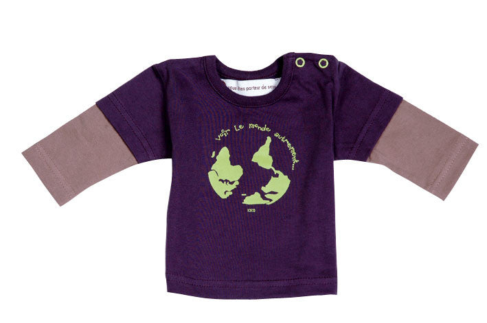 Ideo See the World Differently Organic Tee 6 months / Purple, Toddler Tee - Ideo, Wild Dill