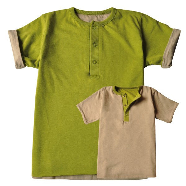 Ideo Organic Reversable Tee , Toddler Tee - Ideo, Wild Dill  - 2