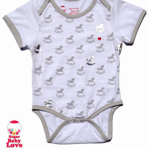 Rocking Horse Cotton Onesie,wilddillkids  - Wild Dill