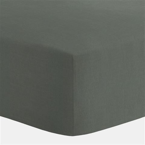 Grey Egyptian Cotton Fitted Crib Sheet,Mezoome Designs  - Wild Dill