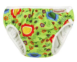 Green Floral Print Swim Diaper , Accessories - Imse Vimse, Wild Dill