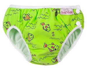 Green Fishies Print Swim Diaper,Imse Vimse  - Wild Dill