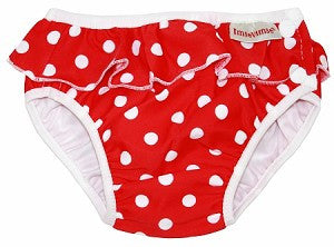 Red & White Polka Dot Swim Diaper,Imse Vimse  - Wild Dill