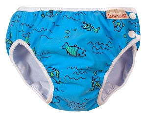 Blue Fishies Print Swim Diaper,Imse Vimse  - Wild Dill