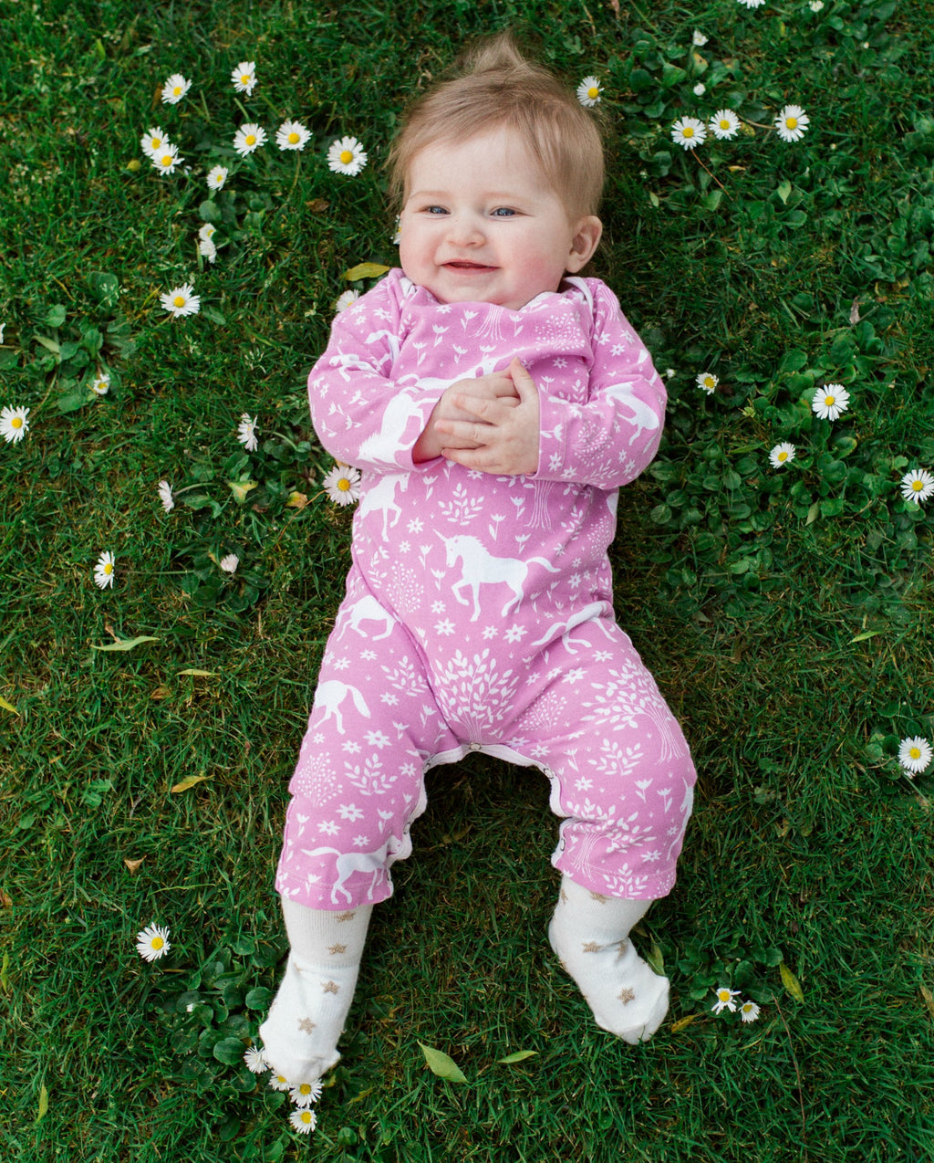 Pink Unicorn - Organic Jumpsuit by Winter Water Factory