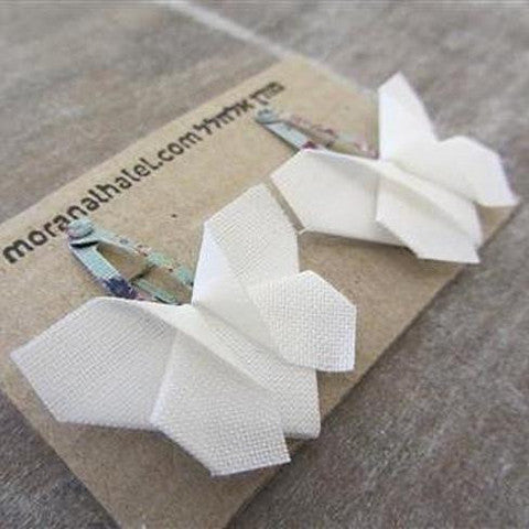 Origami Butterfly Hair Clips , Accessories - moran alhalel, Wild Dill  - 4