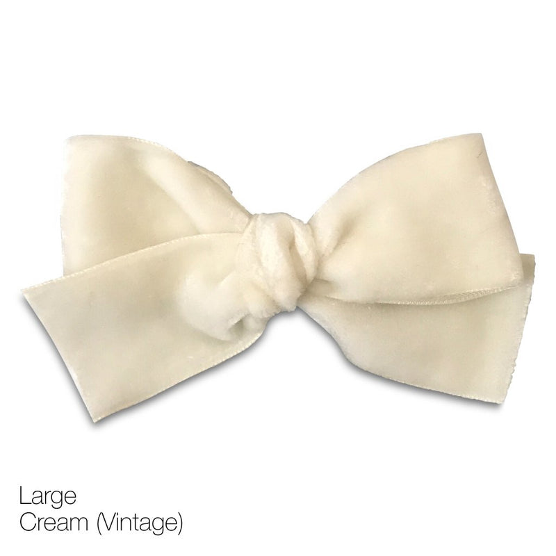 Vintage Velvet Hair Bows - Large - Limited Edition