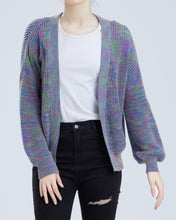 "Load image into Gallery viewer, ""Daria"" Women Cotton Space-dyed Knitted Cardigan"