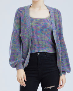 """Demi"" Women Cotton Space-dyed Knitted Vest Top"