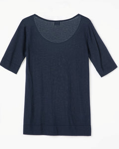 """Pessy"" Women Anti Bacterial Cashmere Blend Knitted Tee"