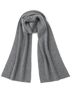 """Zena"" Merino Wool Cashmere Blend Knitted Scarf"