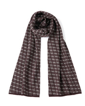 "Load image into Gallery viewer, ""Zuni"" 100% Cashmere Heritage Mini Checkered Scarf"