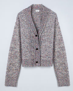 """Lucia"" Metallic Cotton Blend Knitted Cardigan"