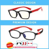 Blue Light Blocking, Anti Eyestrain, UV400 Protector Eye Glasses for Boys and Girls - Perfect For Age From 01 to 16 Years