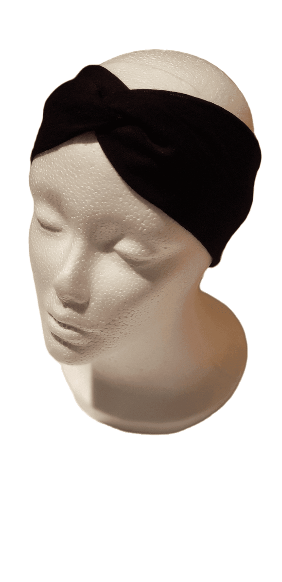 Just Black- Twisty Turban Headband