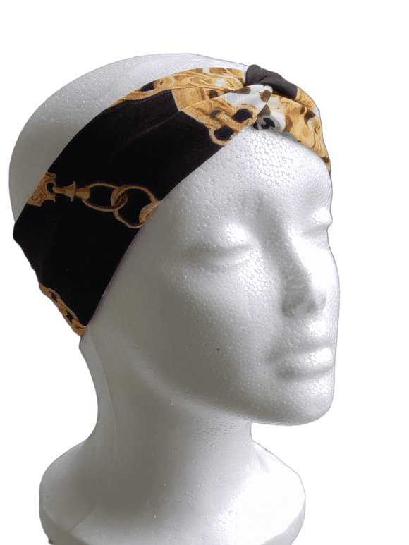 Chains & Cheetah- Twisty Turban Headband
