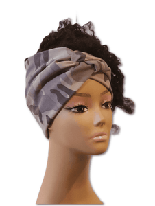 Queen Camouflage Twisty Turban Headband