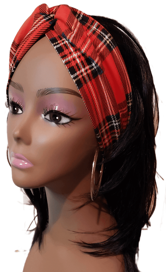 Holiday Plaids Twisty Turban Headband