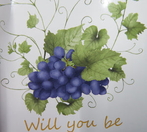 Will you be my godmother? Wine bottle sticker