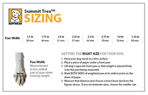 Summit Trex Size Guide