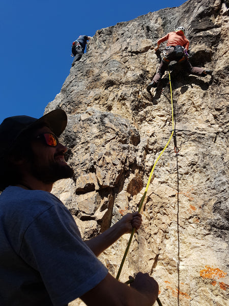 climbing at gecko crag