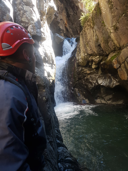 canyoning near woodshed creek hut