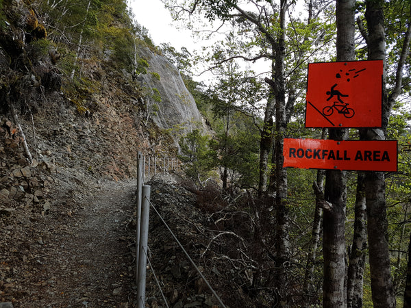 rockfall area on old ghost road