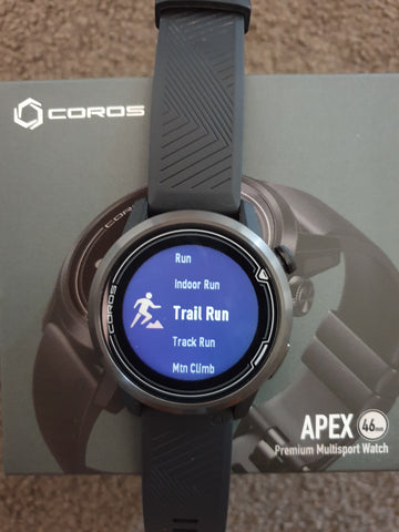 Coros Apex watch in box