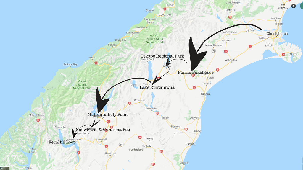 map of new zealand road trip
